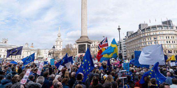 manifestation brexit, revendication populaire sur la politique en Europe